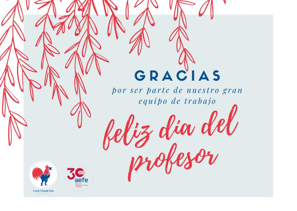 Hoy en el día del profesor un mensaje muy afectuoso a todos nuestros profesores, quienes trabajan con compromiso y dedicación.